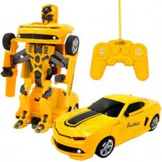 SENZATIONAL!ROBOT TRANSFORMERS CARE SE TRANSFORMA IN MASINA, CU TELECOMANDA! NOU! - Roboti de jucarie, Plastic, Unisex