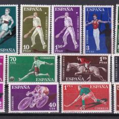Spania 1960 sport MI 1201-1214 MNH w46 - Timbre straine, Nestampilat
