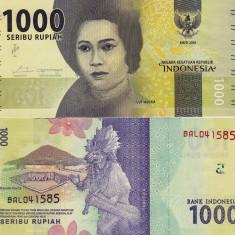 INDONEZIA 1.000 rupiah 2016 UNC!!! - bancnota asia