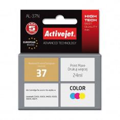 Cartus compatibil Lexmark 37, tricolor, 24 ml, premium Activejet, Garantie 5 ani - Cartus imprimanta