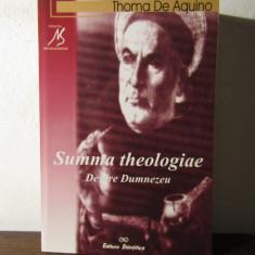 DESPRE DUMNEZEU .SUMMA THEOLOGIAE - THOMA DE AQUINO - Carte Filosofie