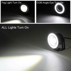 Proiectoare auto LED cu angel eyes 89 mm 3 dimensiuni disponibile - Proiectoare tuning, Universal