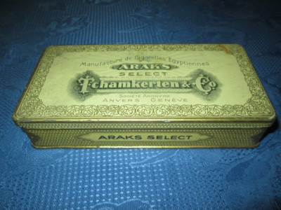 ARAKS Tchamkerten-Cutie tigarete metalica veche. foto