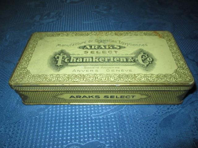ARAKS Tchamkerten-Cutie tigarete metalica veche.