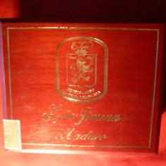 Cutie din lemn pt trabucuri Lux Leon Jimenes Moduro, Dim. int.= 19x 16 cm