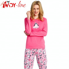 Pijamale Dama Maneca/Pantalon Lung, Vienetta Secret, Smart Penguine, Cod 1407