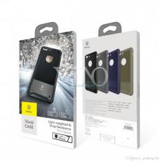 Husa dura ultra-thin Armor Shield Slim din TPU Baseus Apple iPhone 8, Negru, Gel TPU