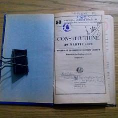 CONSTITUTIUNE 29 Martie 1923 - G. Alexianu - Alcalay, 105 p. - Carte Legislatie