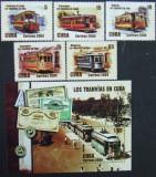 CUBA - TRAMVAIE CUBANEZE, 2004, 5 V + 1 S/S, NEOBLIT. - CU 60