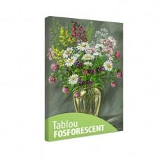 Tablou fosforescent? Vaza de sticla cu flori