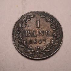 1 banu 1867 Heaton Frumoasa - Moneda Romania