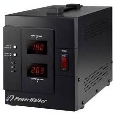 Stabilizator de tensiune iesire 1xShuko, protectie la supraincarcare, scurtcircuit, PowerWalker AVR-REL-3000VA-PW, 3000VA/2400W - Stabilizator tensiune