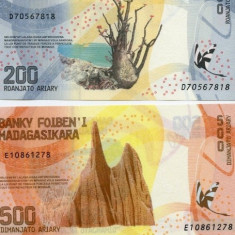!!! MADAGASCAR - LOT 100 + 200 + 500 + 1000 ARIARY 2017 - P NEW - UNC - bancnota africa