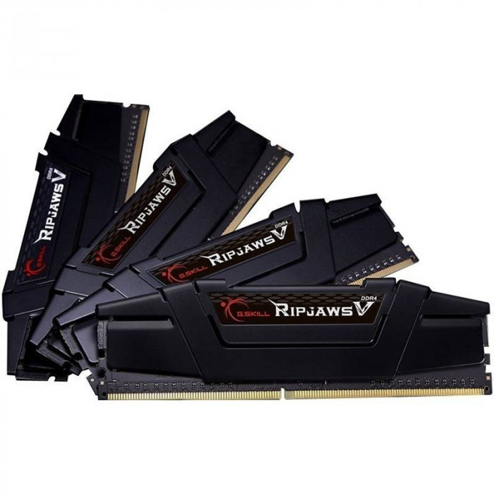 Memorie GSKill RipjawsV Black 32GB DDR4 3200 MHz CL15 Quad Channel Kit foto mare