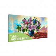 Tablou fosforescent Buchet de liliac - Tablou canvas