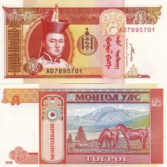 MONGOLIA 5 tugrik 2008 UNC!!! - bancnota asia