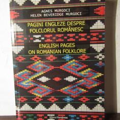 Pagini engleze despre folclorul romanesc - Agnes Murgoci - Carte Arta populara