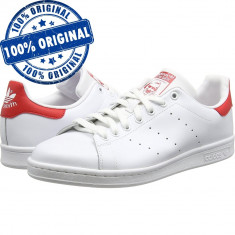 Pantofi sport Adidas Originals Stan Smith pentru barbati - adidasi originali - Adidasi barbati, Marime: 42 2/3, 43 1/3, 44, Culoare: Alb, Piele naturala