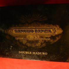 Cutie pt. Trabucuri -Sancho Panza dublu Maduro- Honduras de lux, lemn lacuit