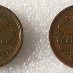 P2. Japonia lot 2 x 10 yen ani diferiti **, Asia