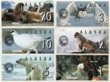 !!! ALASKA - LOT COMPLET 1 + 2 + 3 + 5 + 10 + 20 DOLARI ,  MARTIE 2016 - UNC