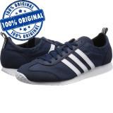 Pantofi sport Adidas VS Jog pentru barbati - adidasi originali, 43 1/3, Indigo, Textil