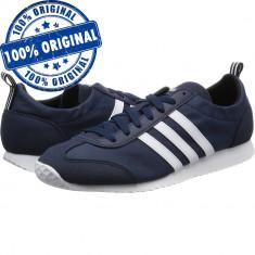 Pantofi sport Adidas VS Jog pentru barbati - adidasi originali - Adidasi barbati, Marime: 41 1/3, 42, 43 1/3, 44, Culoare: Indigo, Textil