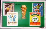 BOLIVIA 1979 FOTBAL CUPA MOMDIALA COTA MICHEL 50 EURO, Nestampilat