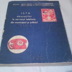 LISTA ABONATILOR LA SERVICIUL TELEFONIC DIN MUNICIPIUL SI JUDETUL BRAILA 1978 - Carte Epoca de aur