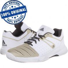 Pantofi sport Adidas Court Stabil 12 pentru femei - adidasi originali - handbal - Adidasi dama, Culoare: Alb, Marime: 38, 40, 37 1/3, 39 1/3, 40 2/3, Piele sintetica