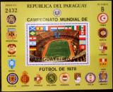 PARAGUAY 1979 FOTBAL CUPA MOMDIALA COTA MICHEL 50 EURO, Nestampilat