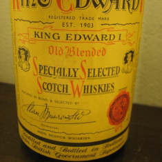 Whisky king edward I, specially selected SCOTCH WHISKIEY, cl 75 GR 43 ani 40/50