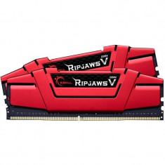 Memorie GSKill RipjawsV Red 8GB DDR4 2400 MHz CL15 Dual Channel Kit - Memorie RAM