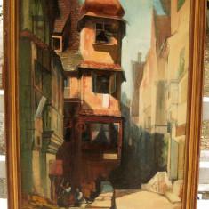 Tablou 1964 Saad el Girgawi Peisaj din Rosenthal pictura ulei pe panza 58x78cm - Pictor strain, Peisaje, Realism