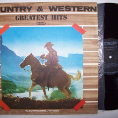 Disc vinil COUNTRY & WESTERN - Greatest hits III (ST - EDE 02922 Al. Andries), electrecord