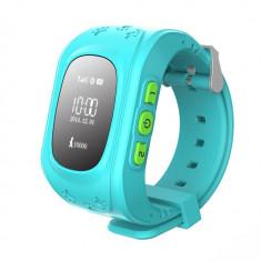 Ceas Telefon Smartwatch monitorizare copii TC Q50, Model 2017, Albastru