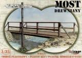 + Macheta diorama 1/35 Mirage Hobby 35220 - Wooden bridge +, Alta