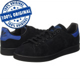 Pantofi sport Adidas Originals Stan Smith pentru barbati - adidasi originali, 40, 40 2/3, 42 2/3, Negru, Piele intoarsa