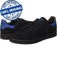 Pantofi sport Adidas Originals Stan Smith pentru barbati - adidasi originali - Adidasi barbati, Marime: 40, 40 2/3, 42 2/3, Culoare: Negru, Piele intoarsa