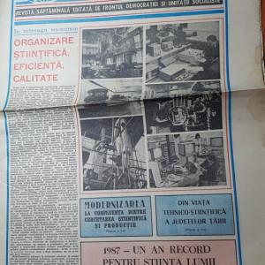 ziarul magazin 6 februarie 1988-articol si foto despre jud. botosani