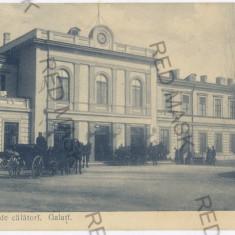 1549 - GALATI, Railway Station - old postcard - used - 1903 - Carte Postala Moldova pana la 1904, Circulata, Printata