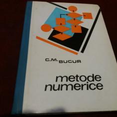 C M BUCUR - METODE NUMERICE