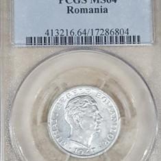 PCGS 5 lei 1947 MS 64 - Moneda Romania