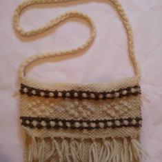 Straita, traista din lana, 35x26 cm, rustic, etno, traditional