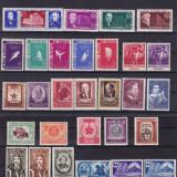 ROMANIA 1952/58 LOT SERII COMPLETE CU SARNIERA - Timbre Romania, Nestampilat