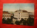 Ilustrata Sopron Ungaria - circulat 1918 la Resita , cenzura Resita si Sopron, Circulata, Printata