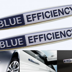 Emblema Metalica Blue Efficiency pentru Mercedes - Stickere tuning