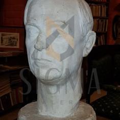 BUST, LIVIU REBREANU, semnt ION JALEA, lucrare reprodusa in album! - Sculptura
