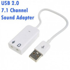 Placa de sunet pe USB 2.0 virtual 7.1