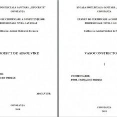 LUCRARE DE LICENTA AMF – VASOCONSTRICTOARELE - Carte Farmacologie